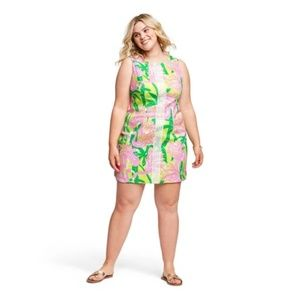 Lilly Pulitzer Fan Dance Green Pink Mini Dress